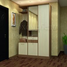 Прихожая Prestige 1.3 со шкафом, зеркалом, открытой полкой и тумбой
