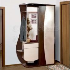 Прихожая Rapsody 1.3 с полноценным шкафом, зеркалом и элегантным изгибом