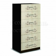 Комод Feniks 600 Ажур с шестью выдвижными ящиками и оригинальным украшающим узором