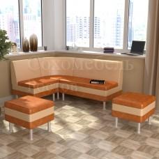 Кухонный уголок Секрет-2 с пуфами