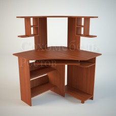 Стол компьютерный Simple 4 с нишей для системного блока угловой