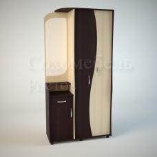 Прихожая Flamenco 5 со шкафом, тумбой и зеркалом