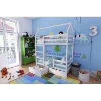 Кровать детская двухъярусная Домик