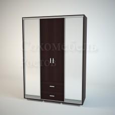 Прихожая Flamenco 3 premium шкаф-купе с зеркалом трехстворчатый