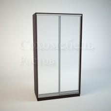 Шкаф Купе Элегант с зеркалом в двух дверках
