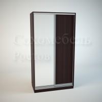 Шкаф-купе Элегант 1 (зеркало+ДСП)