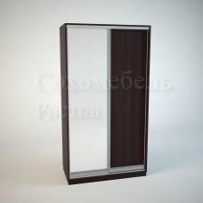 Шкаф Купе Элегант с зеркальной дверкой и дверкой из ЛДСП