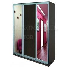 Шкаф Купе Элегант 2 зеркало+ДСП+зеркало в полный рост