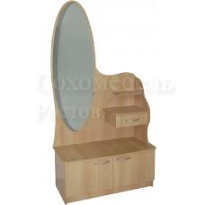 Туалетный набор TET-a-TET 2 maxi овальное зеркало в полный рост с дополнительным ящиком, полкой и вместительной тумбой