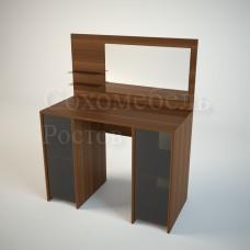 Туалетный набор TET-a-TET 2 Премиум квадратный строгий стиль с большим зеркалом удобными полочками для мелочей и двумя тумбами для принадлежностей