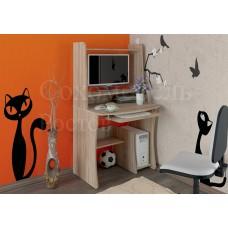 Компьютерный стол Alf с надстройкой нишей для монитора и нишей для системного блока