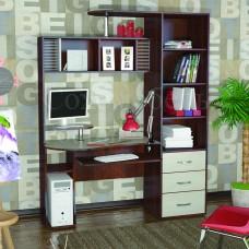Компьютерный стол Ritm с высокой надстройкой и пеналом для принадлежностей